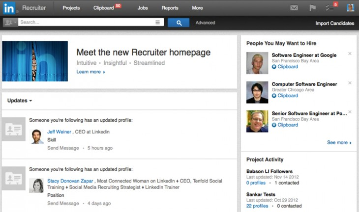 linkedin recruiter 730x432 LinkedIn's Talent Solution service is perhaps the professional social network's best kept secret