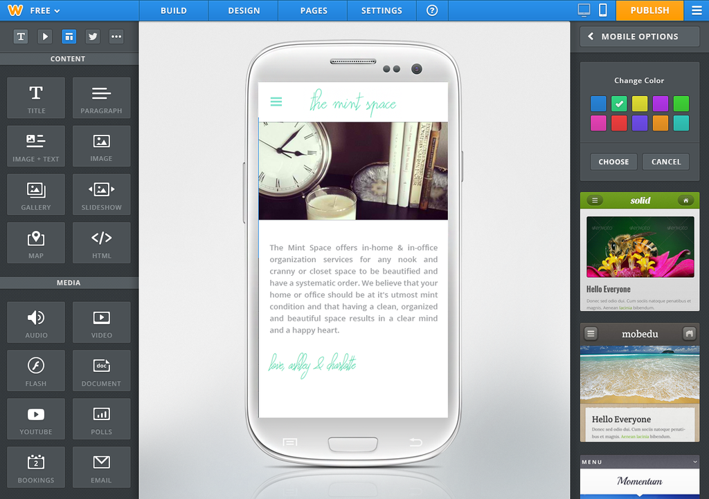 Weebly Launches Its Android App, Mobile and HTML5 Site Creator