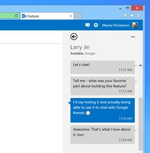outlook2 Microsoft adds Google Talk support to Outlook.com in a bid to woo Gmail users