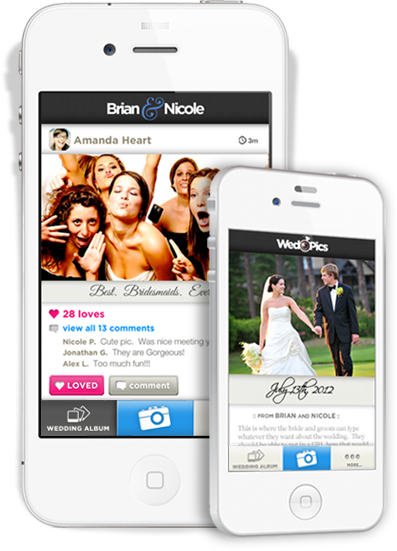 phones Photo sharing for weddings app WedPics raises $1.1 million after serving 36,000 couples