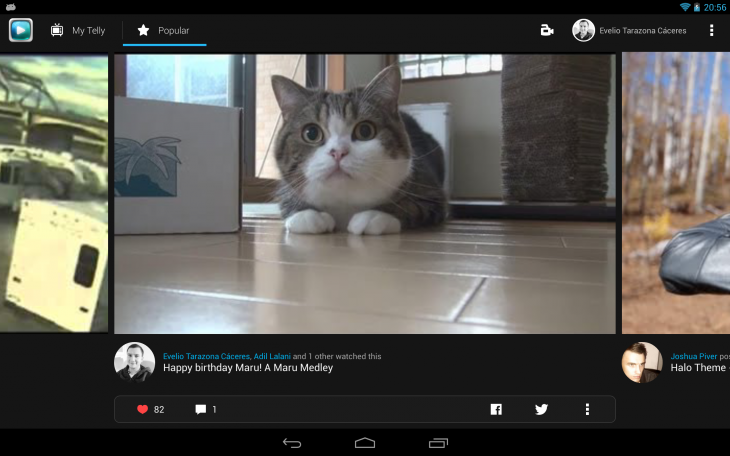 popular 730x456 Tellys social video discovery app is now optimized for Android tablets