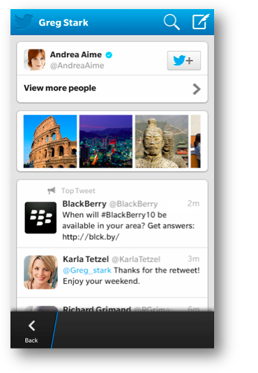 screen shot 2013 05 09 at 11 31 54 am LinkedIn for BlackBerry 10 gets new design and company pages, as Twitter brings Universal Search to its app