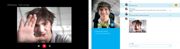 skype vm combined fnl 730x201 Microsoft launches preview of Skype Video Messaging for Windows 8s Modern UI