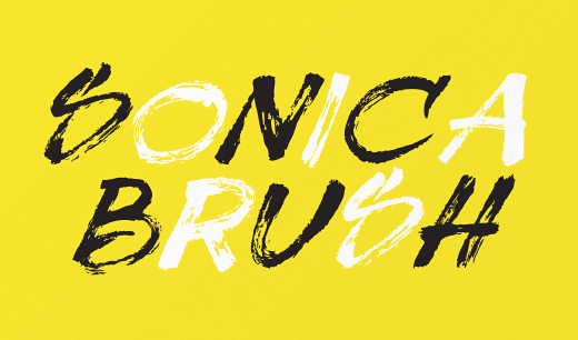 sonica brush 30 of the most beautiful typeface designs released last month (April)