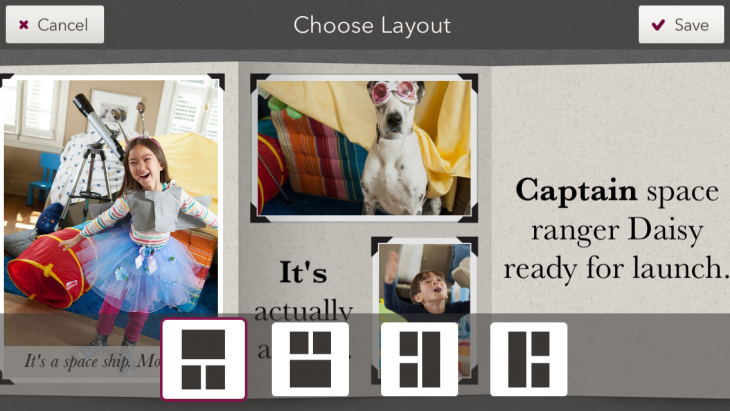 story app layout 730x411 Disney launches Story for iOS, a photo and video sharing app aimed at families with young kids