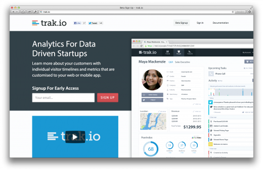 trakio 520x339 Issue v1.5   Startups to follow
