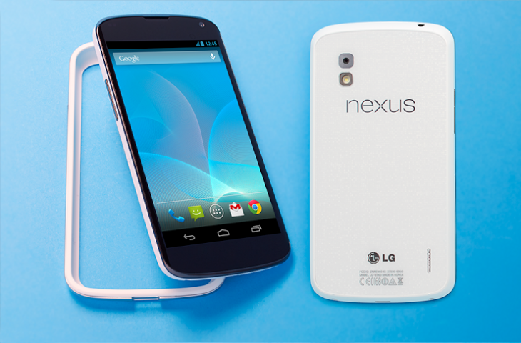 white nexus 4 1 730x480 LGs white Nexus 4 is now available in the US Google Play store and at T Mobile, starting from $299