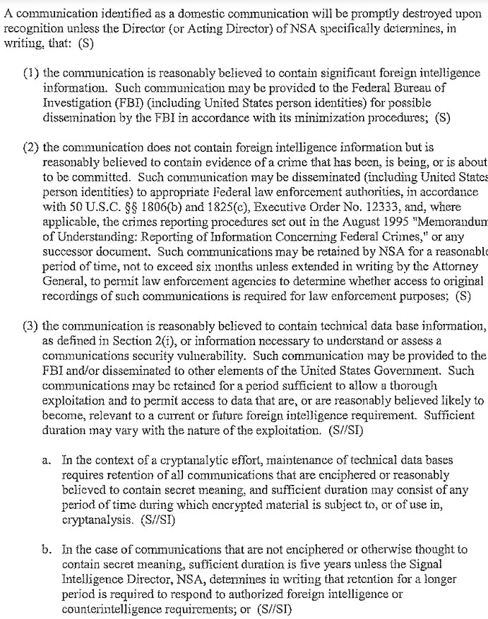 2013 06 20 13h12 59 Rules dictate the NSA can store collected communications of US citizens for up to five years, sans warrant