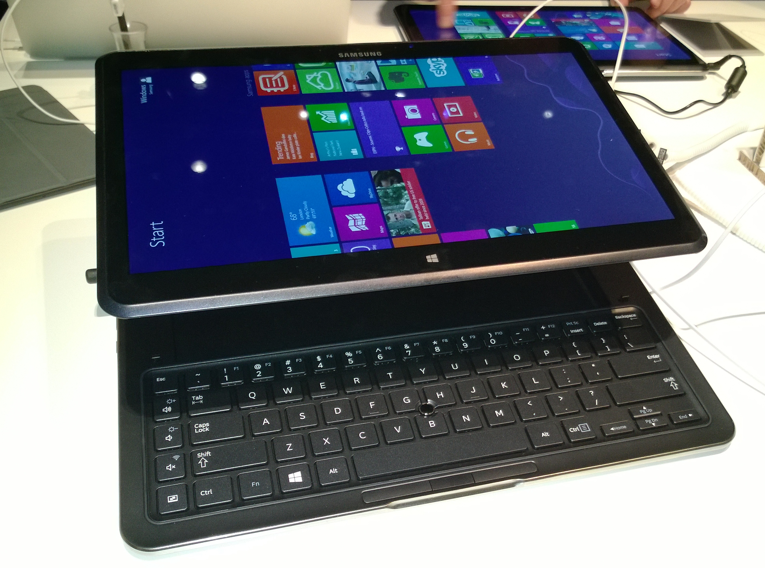 The ATIV Q can 'float' for use when you're giving a presentation