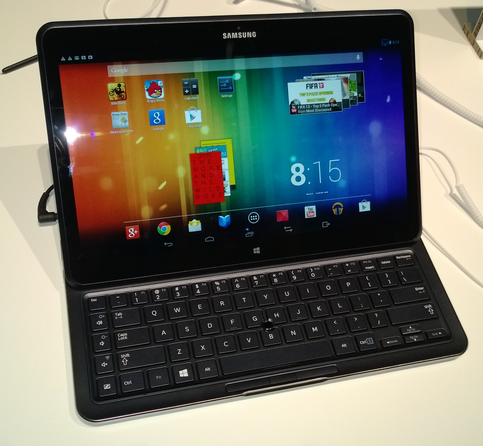 Android mode on the ATIV Q