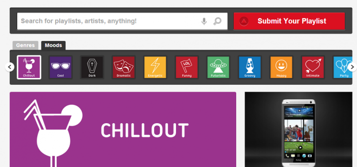 Chillout Spotify Playlists 730x343 Angry or intimate, ShareMyPlaylists now lets you select Spotify playlists based on mood