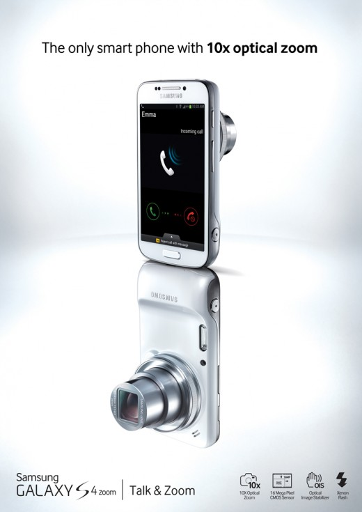GALAXY S4 zoomKey Visual 520x735 Samsung announces the Galaxy S4 zoom, sporting a 16 megapixel camera and 10x optical zoom