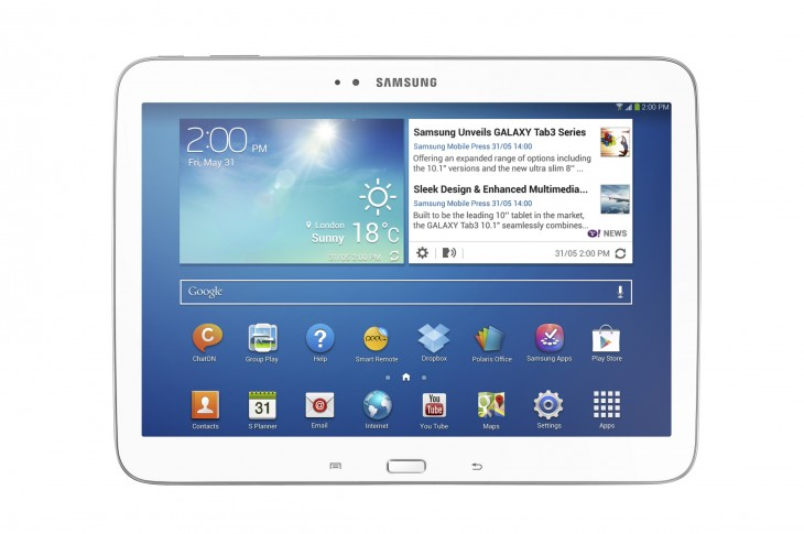 "GALAXY Tab 3 10.1 1 730x485 Samsung announces new 8"" and 10.1"" Galaxy Tab 3 Android tablets, launching globally in June"