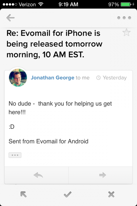 IMG 0617 520x780 Evomail brings its gorgeous email client to the iPhone and its now available for free