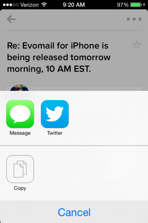 IMG 0619 520x780 Evomail brings its gorgeous email client to the iPhone and its now available for free