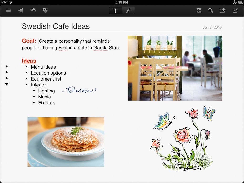 NoteSuite iPad Screen 1_Notes_Med