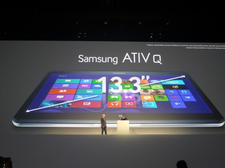 P1040217 730x547 Samsung unveils the ATIV Q, a tablet that runs both Android Jelly Bean and Windows 8