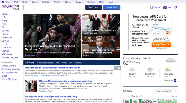 Screen Shot 2013 06 27 at 15.37.45 730x406 Yahoo News gets a major redesign, puts a greater emphasis on content and a customizable news stream