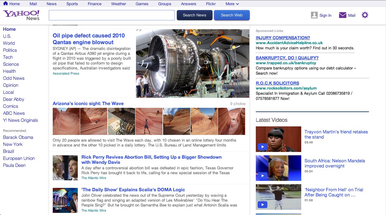 YAHOO NEWS Gets a Major Redesign and a Customizable News Stream