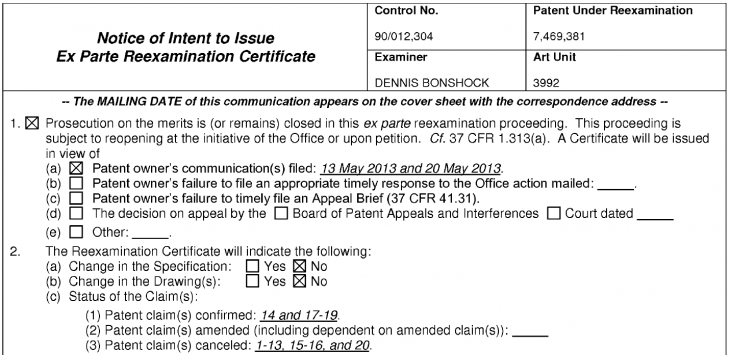 USPTO NIRC confirming seven claims of rubber banding patent 730x355 The US Patent Office will reportedly confirm Apples rubber band claim used against Samsung