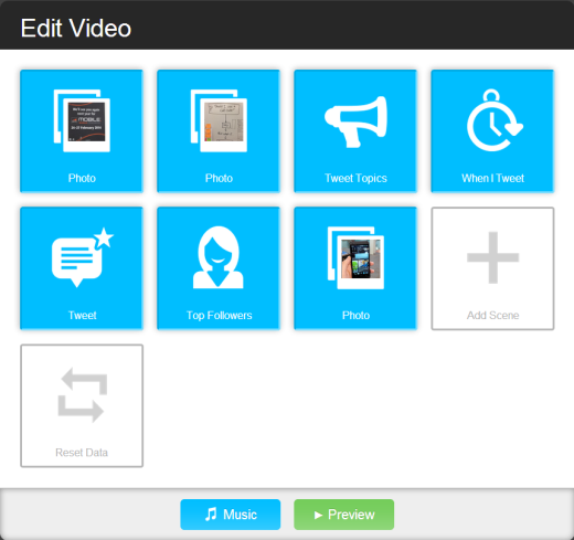 Vizify options Vizify joins forces with Twitter, now you can create an instant movie trailer bio in no time at all
