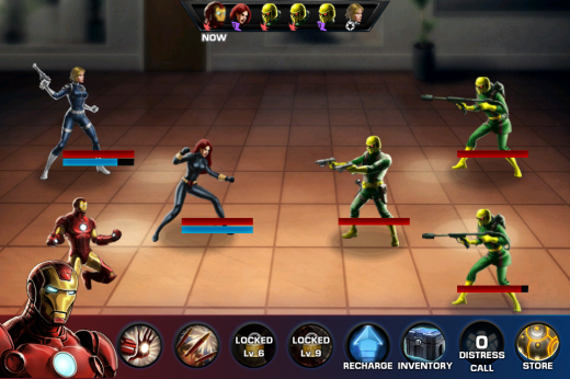 avengers ios 520x346 Disney ports its Marvel: Avengers Alliance Facebook RPG to iOS, Android coming soon