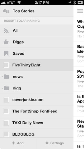 digg3 Digg updates its iOS app to bring its Digg Reader RSS service to mobile