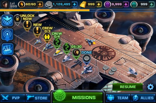 disney avengersalliance2 520x346 Disney ports its Marvel: Avengers Alliance Facebook RPG to iOS, Android coming soon