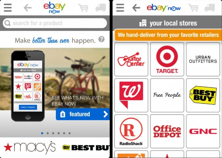 eBay Now Retailers2 730x519 eBay redesigns eBay Now for iPhone, plans Android app and Bay Area, NYC expansion in coming weeks