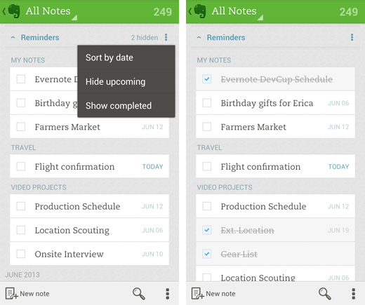 evernote2 Evernote adds custom reminders to its collaborative note taking app on Android