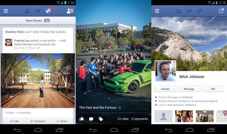 fb android 730x432 Facebook for Android gets better post sharing settings, multi photo messages, new favorites tray for Home