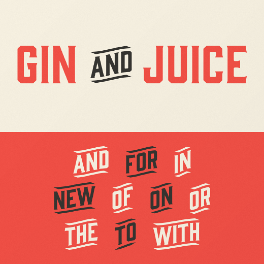gin The 24 most beautiful typefaces released last month