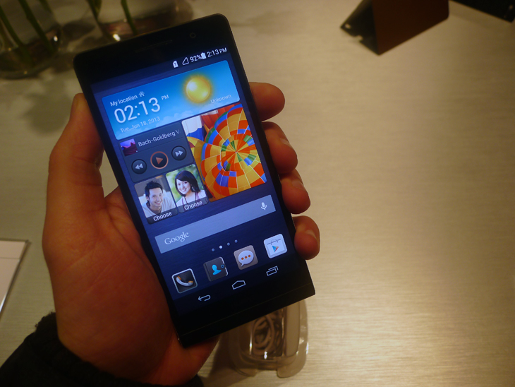 huaweiedit5 Hands on with the Huawei Ascend P6, the worlds thinnest smartphone