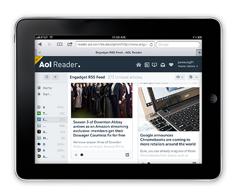 image003 AOL Reader hands on: An unexciting but solid Google Reader replacement to rival Feedly
