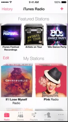 itunes radio 220x391 Everything announced at Apples WWDC 2013 keynote in one handy list