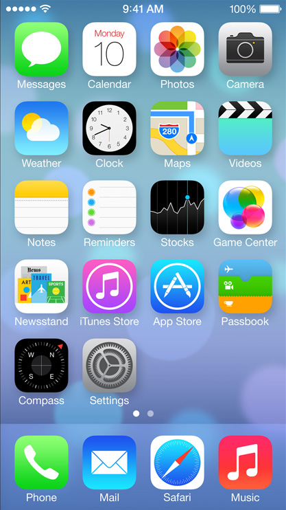 Why does the design of iOS 7 look so different?