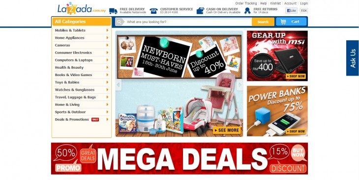 lazada site 730x367 Lazada, Rocket Internets Amazon for Southeast Asia, raises $100m as it aims for profitability by 2015