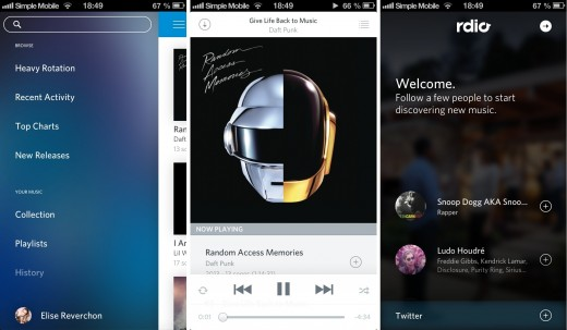 rdio 520x303 19 apps that already look perfect for iOS 7