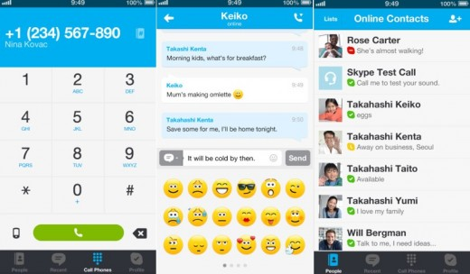 skype 520x304 19 apps that already look perfect for iOS 7