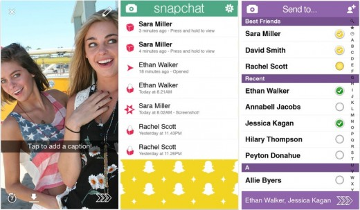 snapchat 520x303 19 apps that already look perfect for iOS 7