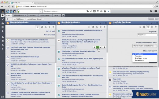 syndicator screenshot1 520x324 HootSuite Syndicator: Yet another new RSS app, but with a special twist for social media marketers