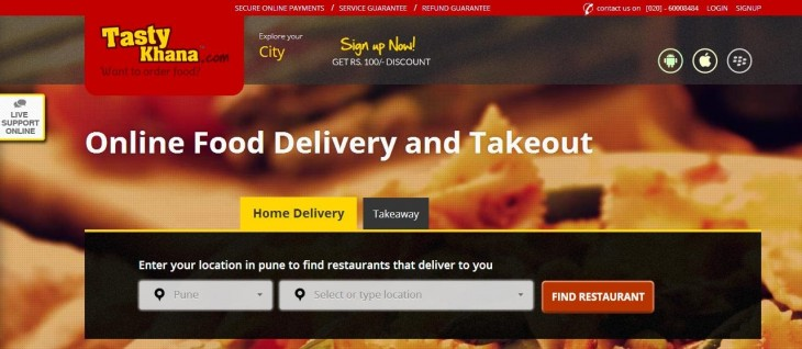 tastykhana 730x318 Delivery Hero invests $5 million in India based food delivery startup TastyKhana