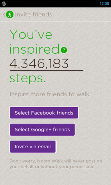 unnamed 1 220x366 Noom Walk for Android: A social pedometer to get you into quantified self without extra hardware