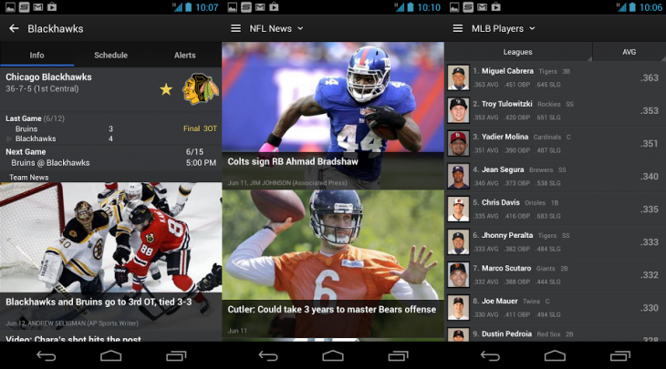 yahoo sports android 730x405 Yahoo Sports redesigned for Android and iOS with faster experience, more content, iPad support, and more