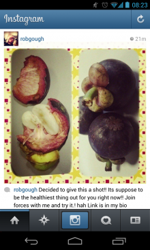 2013 07 27 08.23.17 220x366 Mysterious Instagram hack returns, posting photos of fruit smoothies to user accounts (Update)