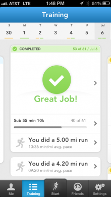 3.6TrainingPlan 220x390 RunKeeper relaunches its training plans as it looks to be your own personal pocket fitness coach