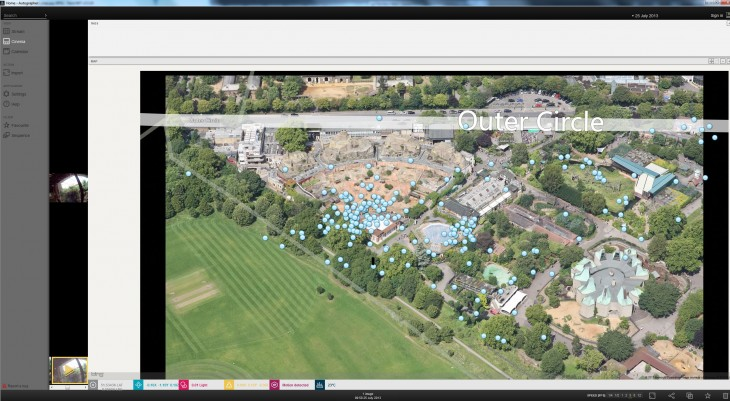 Autographer_software_ZOO_map