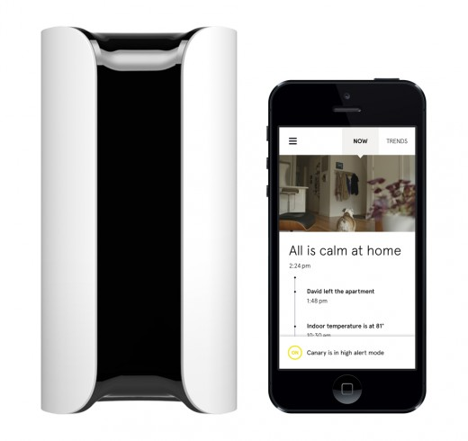 Canary Device and App 520x490 Canarys multi sensor security hub learns about your home and alerts you whenever something is amiss