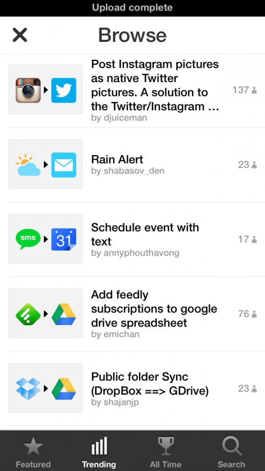 July 10  2013 at 1124PM 3 520x923 IFTTT comes to iPhone with a crisp app featuring native Photos, Reminders and Contacts channels