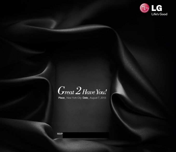 LG Save the Date Invitation 730x628 LG not so subtly hints it will unveil the Snapdragon 800 powered G2 in NYC on August 7